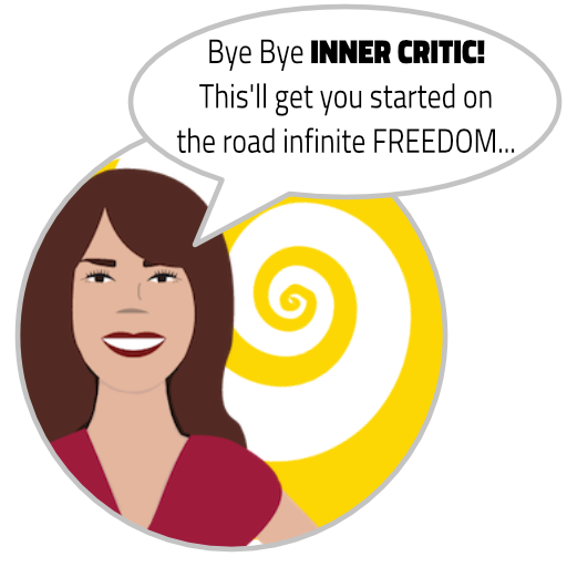 "ENLIGHTERTAINMENT with Glenn Younger, author spiritual books, divinelightvibrations.com, ""Bye bye INNER CRITIC. This'll get you started on the road to infinite FREEDOM"""