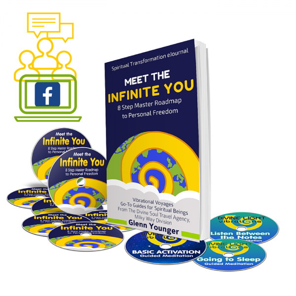 "Divine Light Vibrations online course, ""Meet the Infinite You--8 Step Master Roadmap to Personal Freedom"" by Glenn Younger, author"