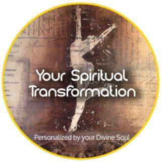"Divine Light Vibrations art logo for ""Your Spiritual Transformation"""
