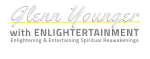 Glenn Younger with Enlightertainment logo